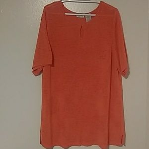 White Stag light orange short sleeve Sweater (EUC